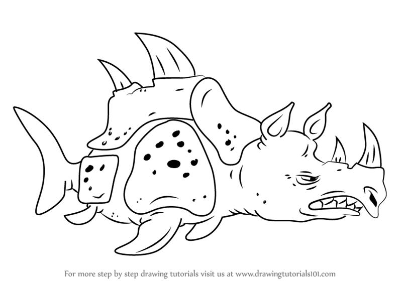 Learn How To Draw Sea Rhinoceros From Spongebob