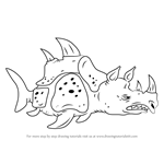 How to Draw Sea Rhinoceros from SpongeBob SquarePants