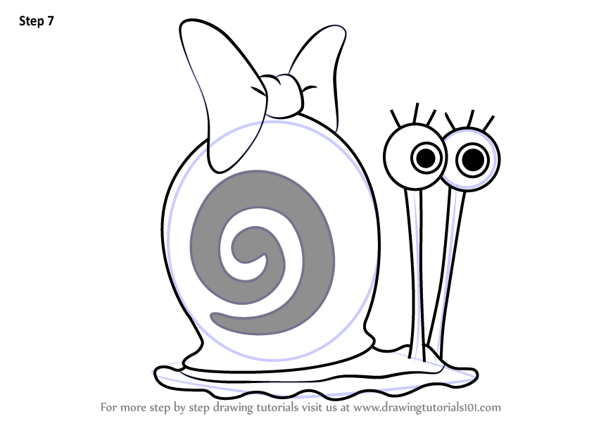 learn how to draw snellie the snail from spongebob