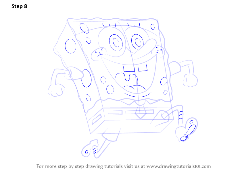 Spongebob Squarepants Drawings Step By Step Step 8  Draw the other