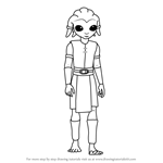 How to Draw Zatt from Star Wars - The Clone Wars