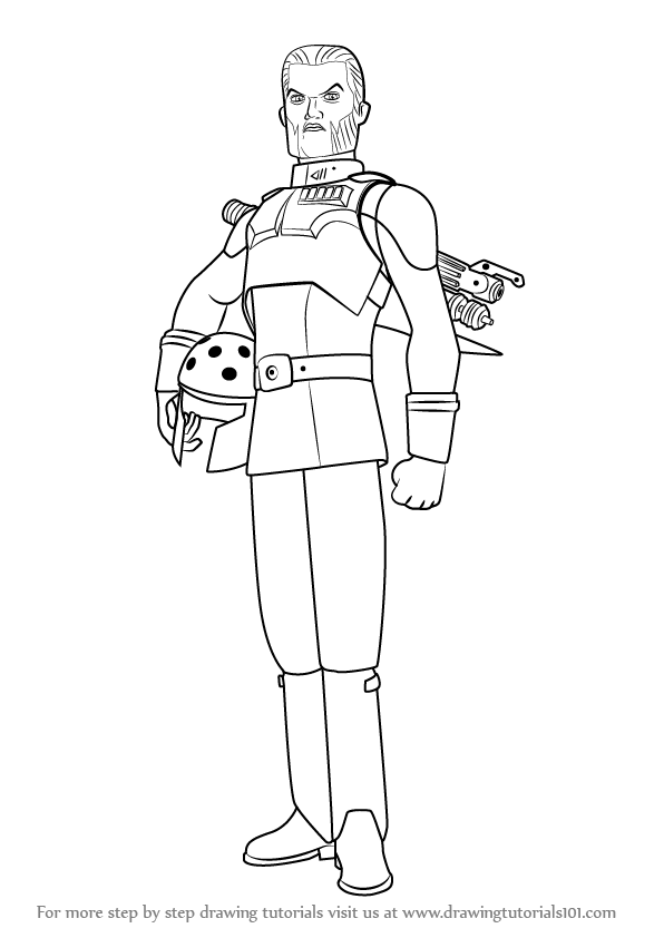 Learn How To Draw Agent Kallus From Star Wars Rebels Star