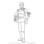 How to Draw Agent Kallus from Star Wars Rebels