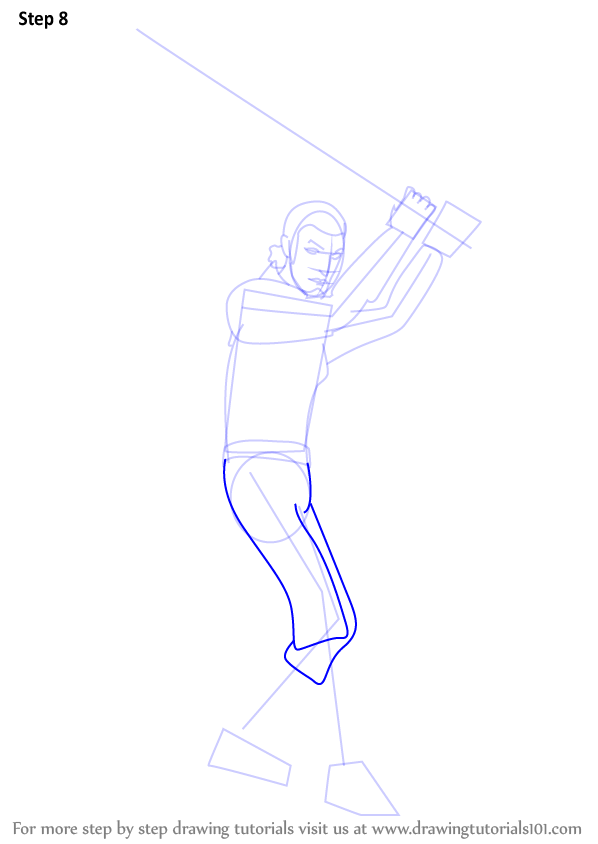 Step By Step How To Draw Kanan Jarrus From Star Wars