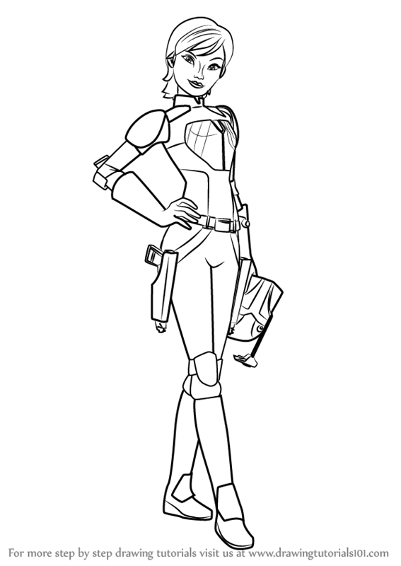 Learn How to Draw Sabine Wren from Star Wars Rebels Star Wars