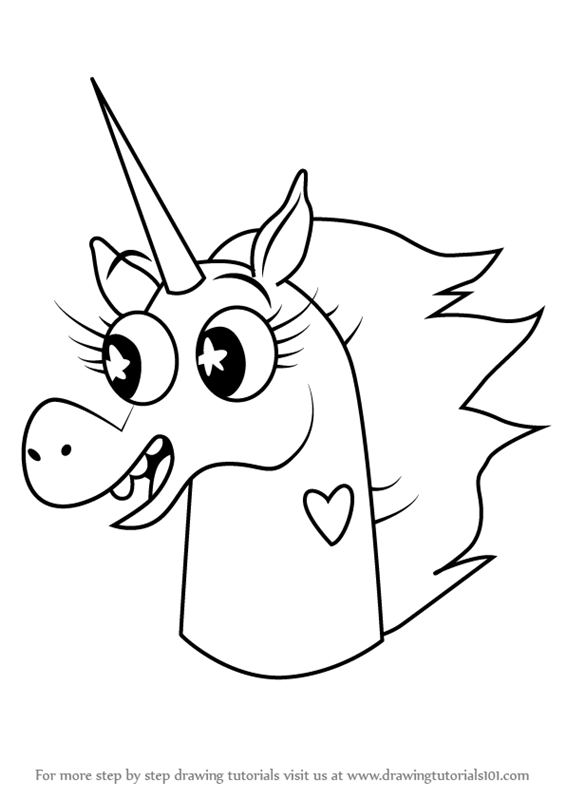 Learn How To Draw Pony Head From Star Vs The Forces Of Evil