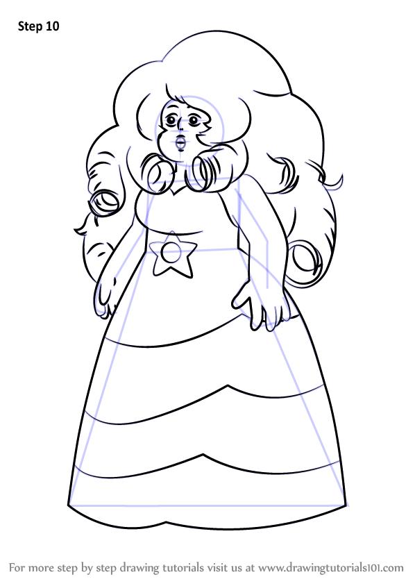 Learn How To Draw Rose Quartz From Steven Universe Steven