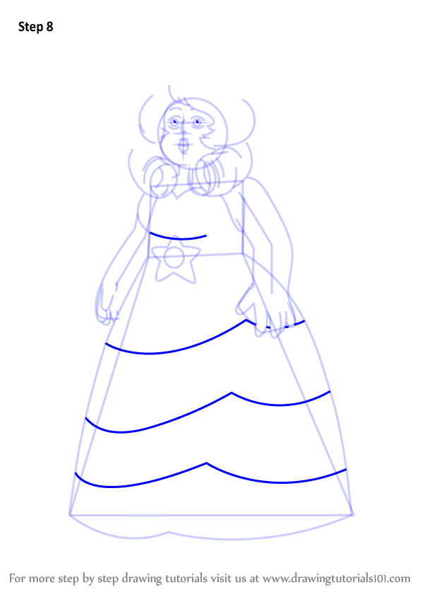 Steven Universe Sketch Rose: Learn How To Draw Rose Quartz From Steven Universe (Steven