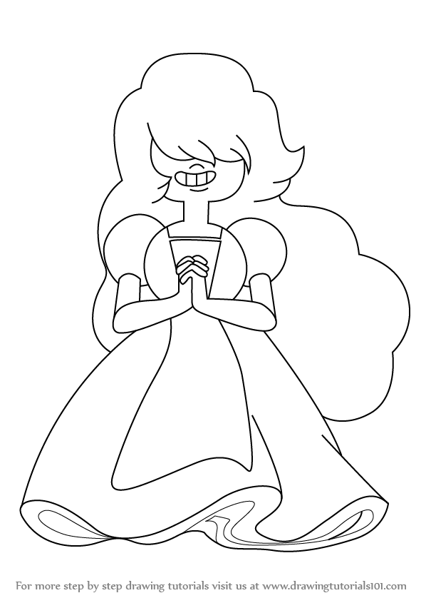how to draw Sapphire from Steven Universe step 0
