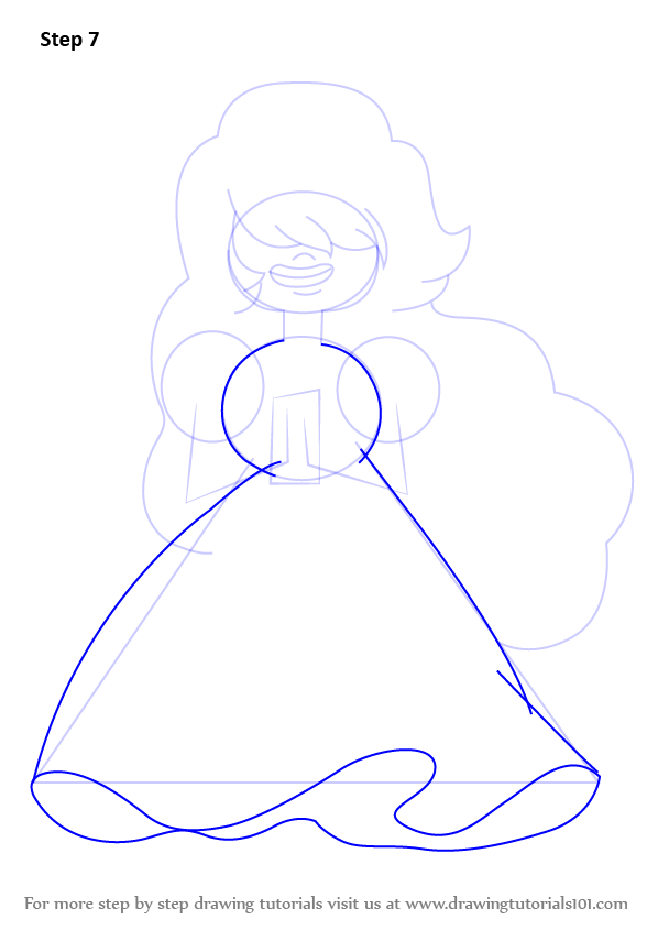Learn How To Draw Sapphire From Steven Universe Steven