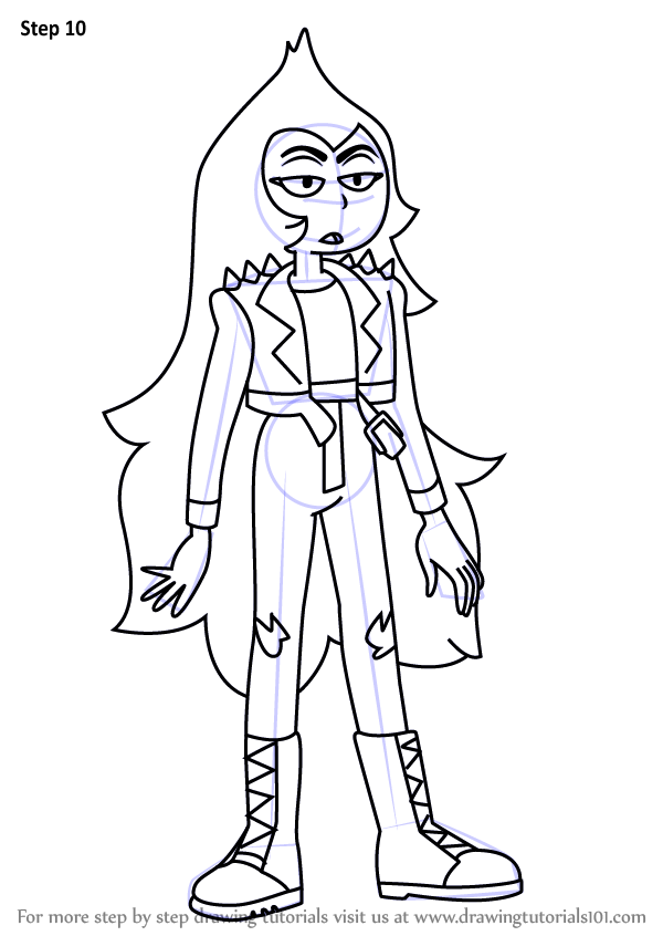 how to draw opal from steven universe step by step