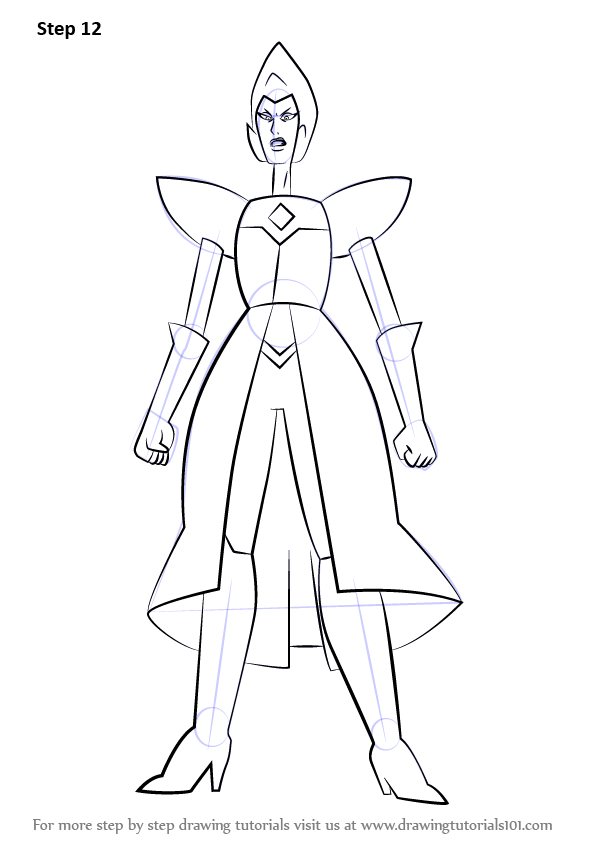 Learn How To Draw Yellow Diamond Full Body From Steven