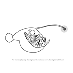 How to Draw Anglerfish from Stoked