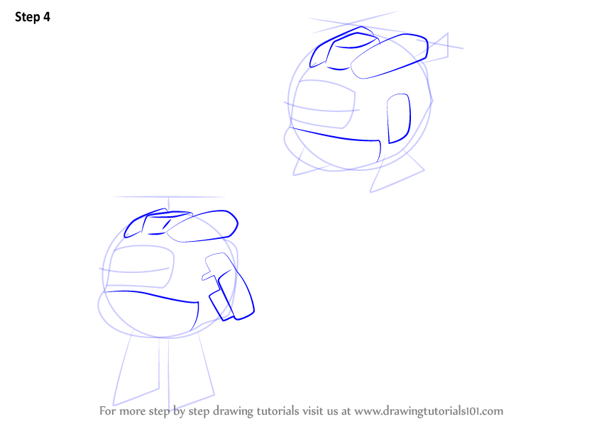 Step by step how to draw dizzy from super wings drawingtutorials101
