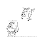 How to Draw Dizzy from Super Wings