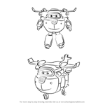 How to Draw Donnie from Super Wings