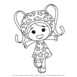How to Draw Milli from Team Umizoomi