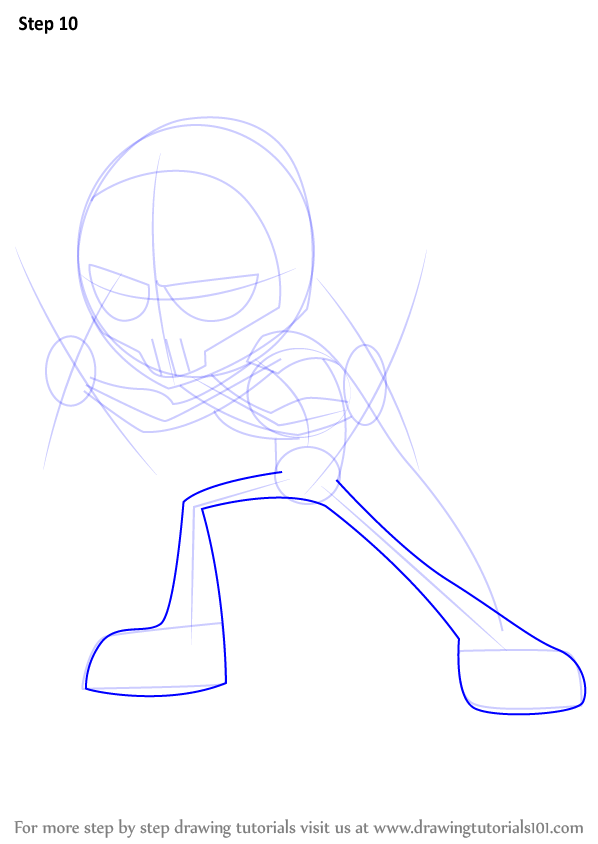 Step By Step How To Draw Red X From Teen Titans Go