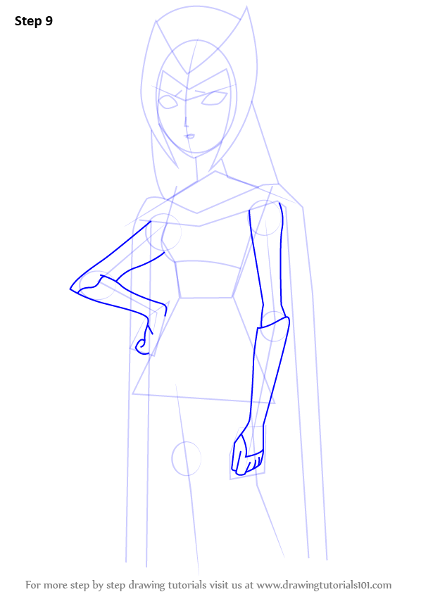 how to draw raven without the hood step by step