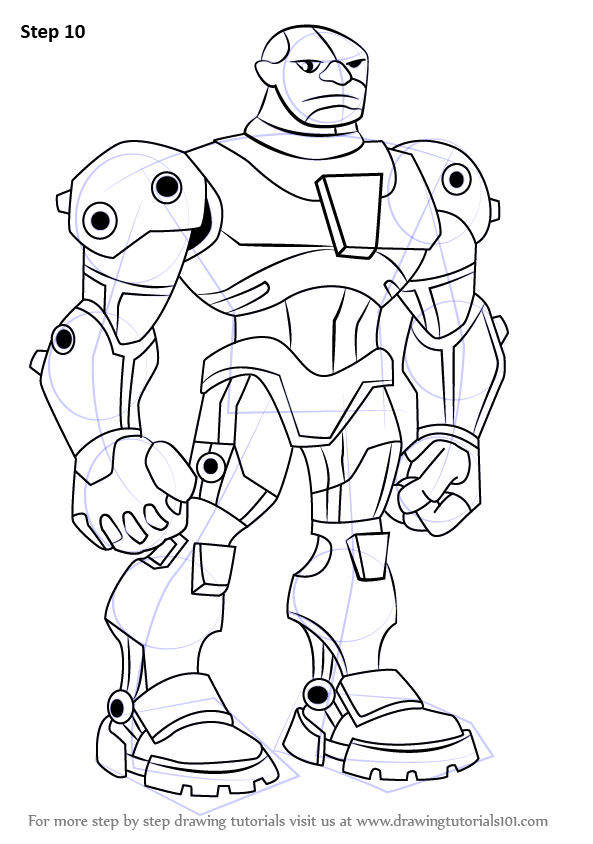 learn how to draw cyborg from teen titans  teen titans