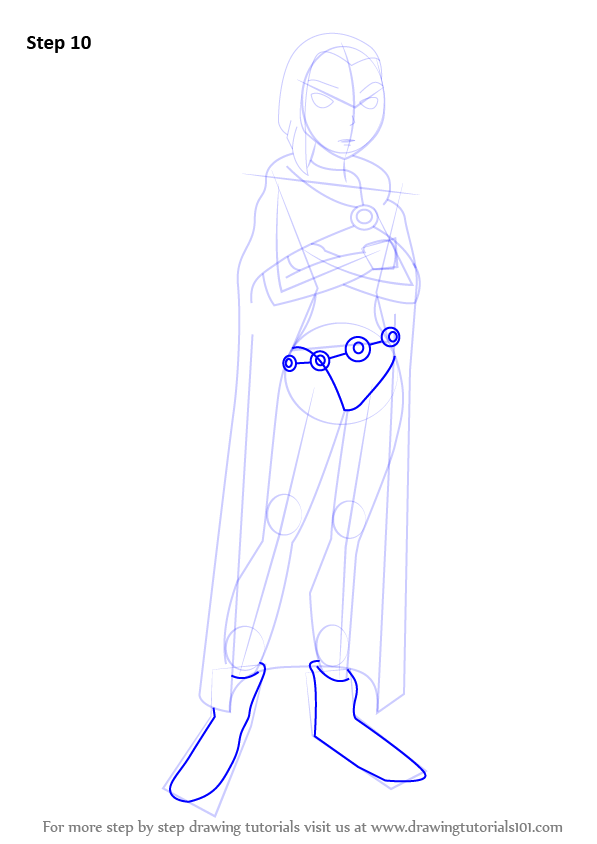 Cleared How to draw raven from teen titans remarkable