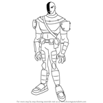 How to Draw Slade from Teen Titans