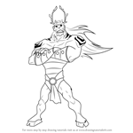 How to Draw Trigon from Teen Titans