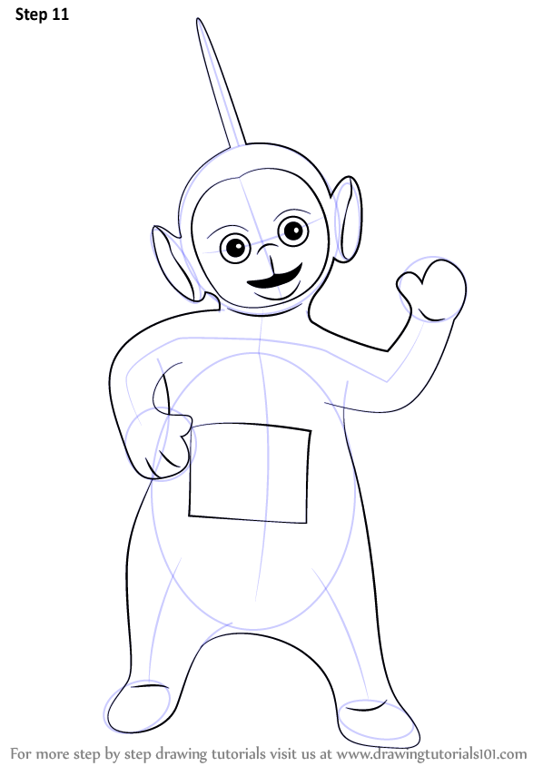 teletubbies dipsy cartoon how to draw dipsy from teletubbies - Teletubbies Dipsy Coloring Pages