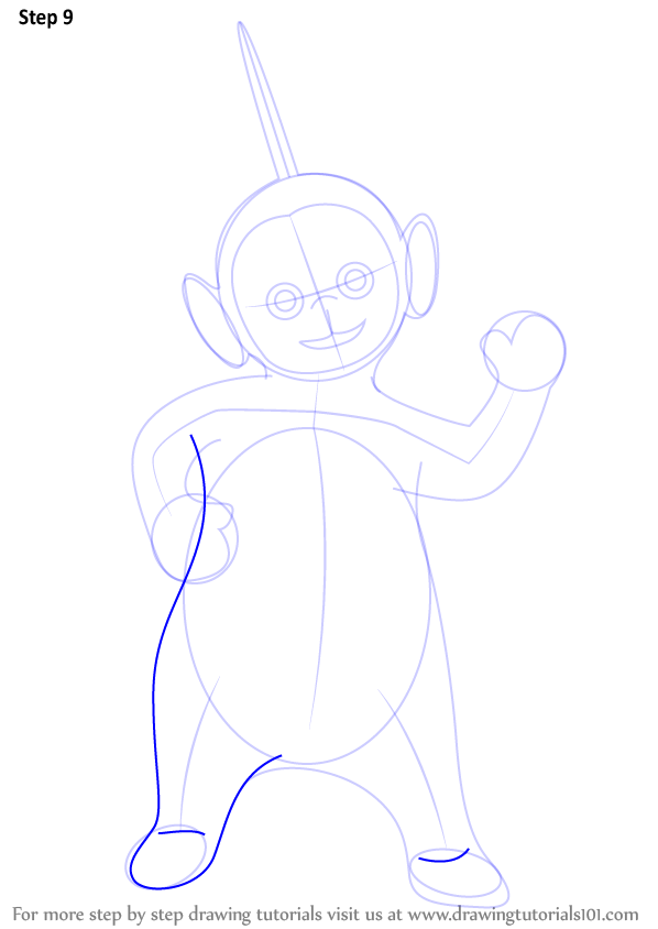 learn how to draw dipsy from teletubbies  teletubbies  step by step   drawing tutorials
