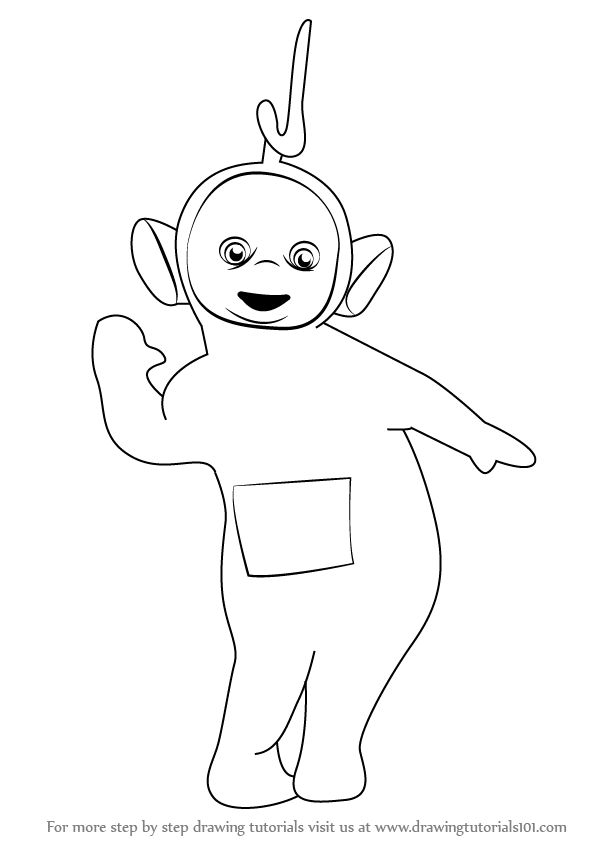 Learn How to Draw Laa-Laa from Teletubbies (Teletubbies) Step by ...