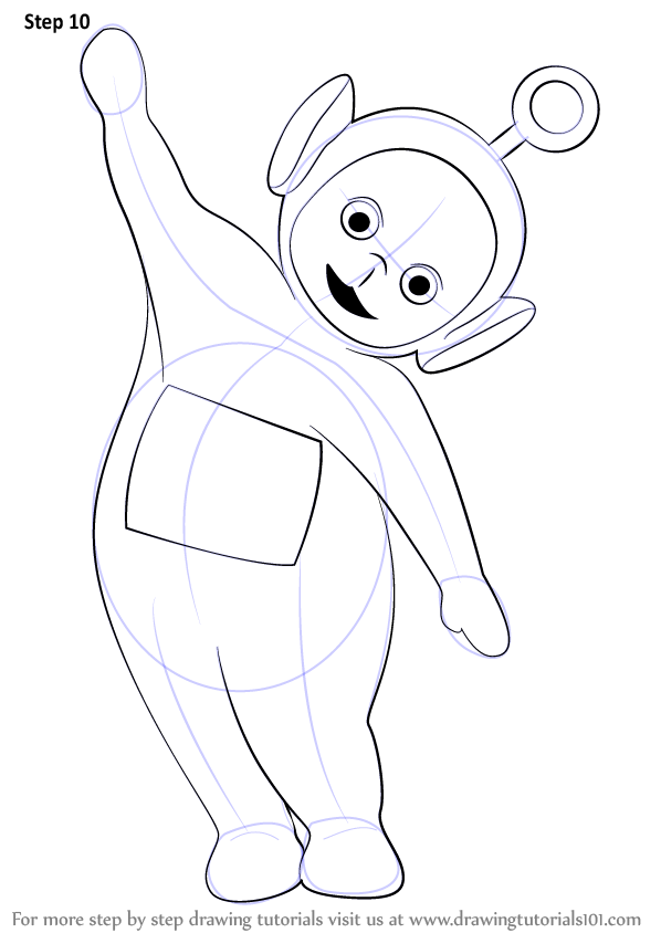 Learn How To Draw Po From Teletubbies Teletubbies Step