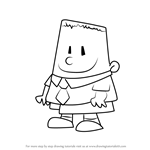 How to Draw George Beard from The Adventures of Captain Underpants