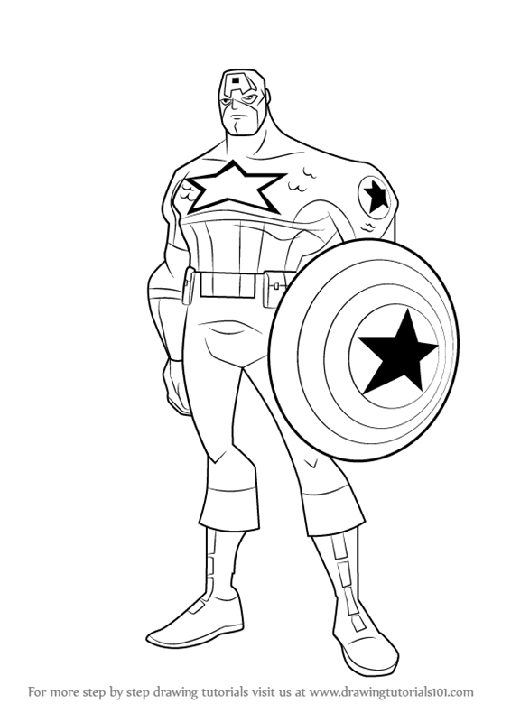 Learn How to Draw Captain America