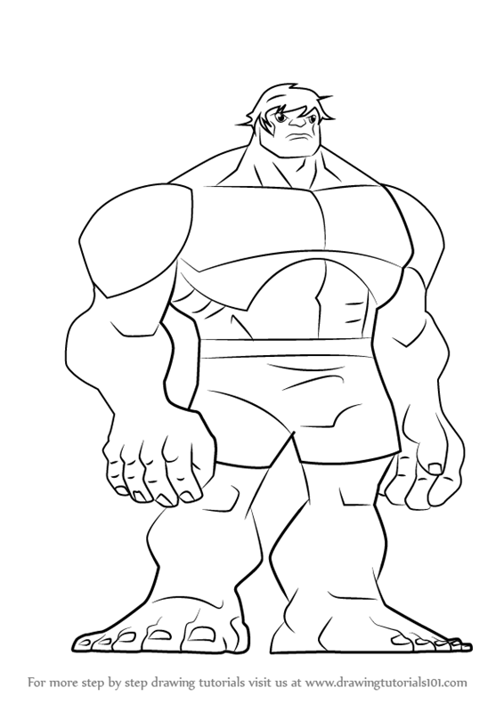Learn How to Draw Hulk from The Avengers  Earths Mightiest