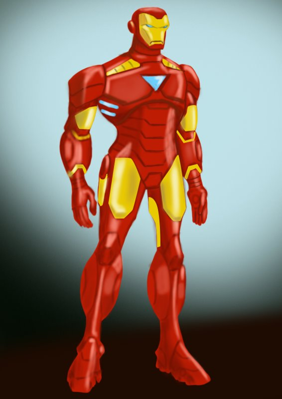 how to draw iron man 3d