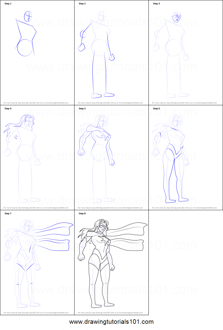 how to draw ms marvel