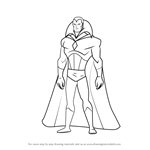 How to Draw Vision from The Avengers - Earth's Mightiest Heroes!