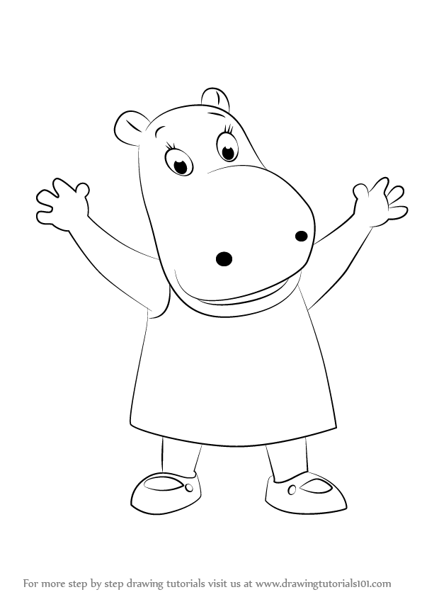 Learn How To Draw Tasha From The Backyardigans The