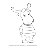 How to Draw Tyrone from The Backyardigans