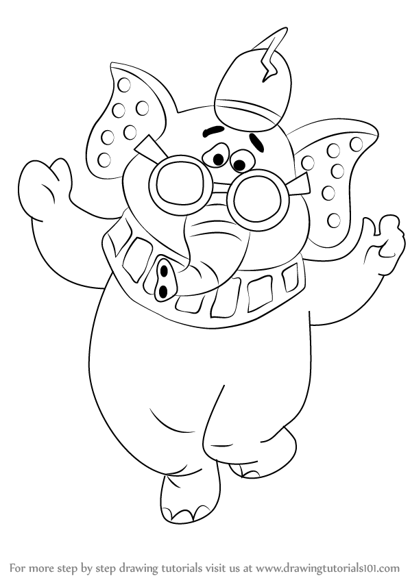 Learn How To Draw Snorky From The Banana Splits The Banana Splits