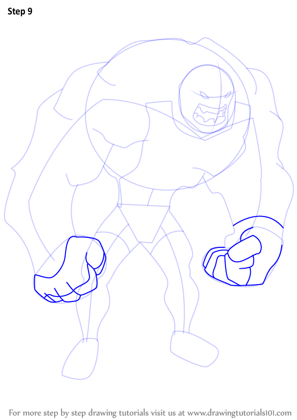 step by step how to draw bane from the batman