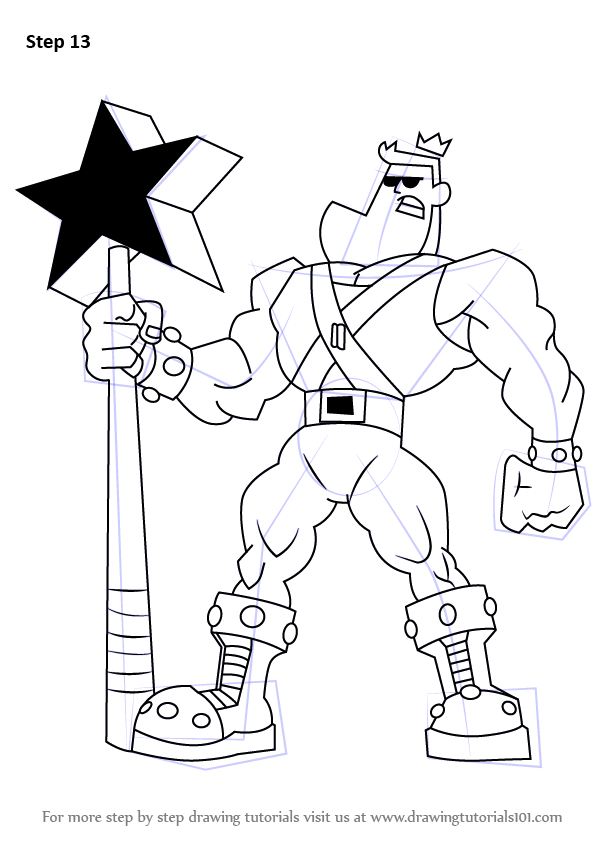 Step By Step How To Draw Jorgen Von Strangle From The