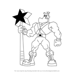 How to Draw Jorgen Von Strangle from The Fairly OddParents
