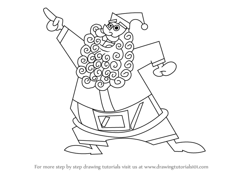 How To Draw Santa Claus From The Fairly Oddparents
