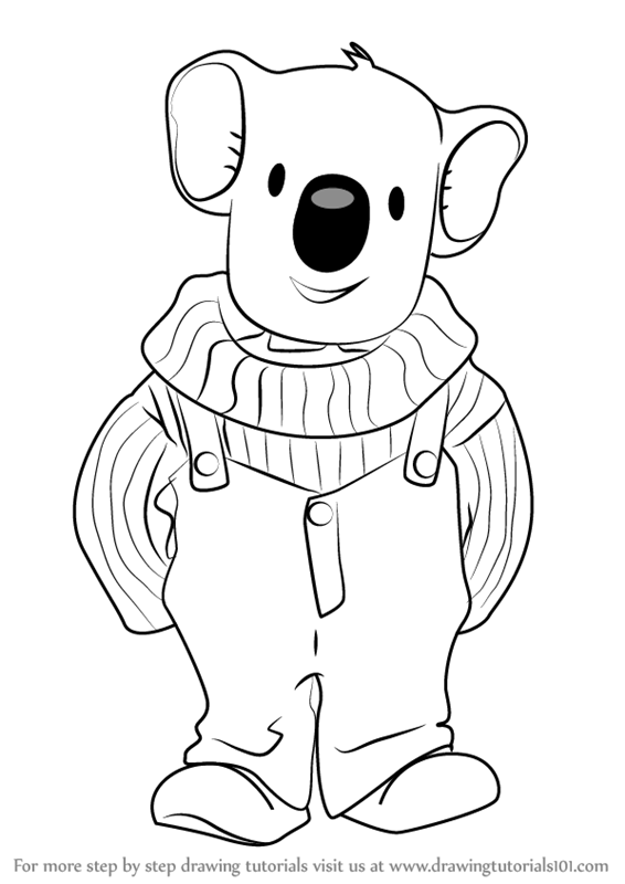 Learn How To Draw Buster From The Koala Brothers The Koala