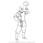 How to Draw Bolin from The Legend of Korra