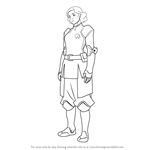How to Draw Lin Beifong from The Legend of Korra