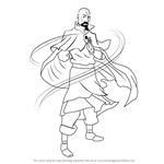 How to Draw Tenzin from The Legend of Korra