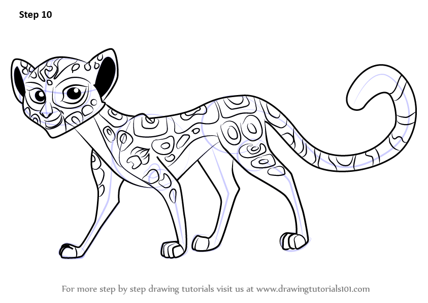Learn How to Draw Fuli from The Lion Guard The Lion Guard Step