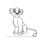 How to Draw Kiara from The Lion Guard